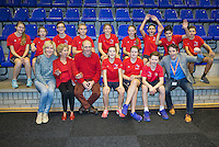 Rotterdam, Netherlands, December 20, 2015,  Topsport Centrum, Lotto NK Tennis, Ballkids<br /> Photo: Tennisimages/Henk Koster