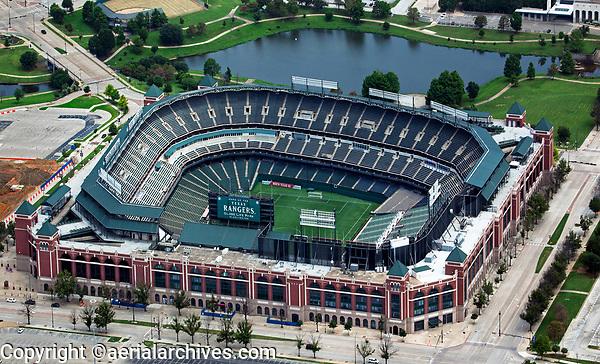 aerial photograph of Globe Life Park, Arlington, Texas