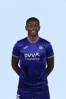 30th July 2020, Turbize, Belgium;   Marco Kana defender of Anderlecht pictured during the team photo shoot of RSC Anderlecht prior the Jupiler Pro league football season 2020 - 2021 at Tubize training Grounds.