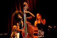 MADRID, SPAIN - NOVEMBER 17: Esperanza Spalding performs in the 'XXVII Festival Jazz Madrid 2010' at Teatro Fernan Gomez on November 17, 2010 in Madrid, Spain. (Photo by Juan Naharro Gimenez)