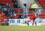 St Johnstone v Partick Thistle....17.10.15  SPFL     McDiarmid Park, Perth<br /> Steven Lawless scores his wonder goal<br /> Picture by Graeme Hart.<br /> Copyright Perthshire Picture Agency<br /> Tel: 01738 623350  Mobile: 07990 594431