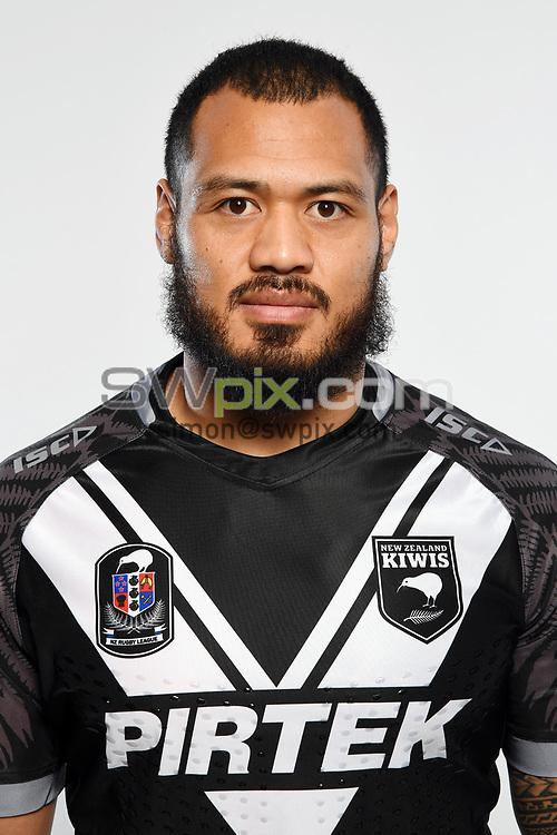 Leeson Ah Mau.<br /> Headshots of the New Zealand Kiwis rugby league team, Auckland, New Zealand. 7 October 2018.<br /> Copyright photo: Andrew Cornaga / www.photosport.nz - ©PhotosportNZ/SWpix.com