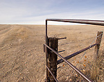 An old gate opening to the vast expanse of the Pawnee National Grasslands located in Northeastern Colorado.
