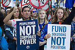Powershift March in Washington. Over six thousand young people from all over the country are converging in Pittsburgh, PA for Power Shift 2013, a massive training dedicated to bringing about a safe planet and a just future for all people. (Photo by: Robert van Waarden)