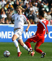 Sam Mewis (USA) controls the ball..FIFA U17 Women's World Cup Final, USA v Korea DPR, Albany Stadium, Auckland, New Zealand, Sunday 16 November 2008. Photo: Renee McKay/PHOTOSPORT