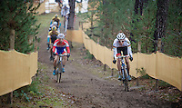 Philipp Walsleben (DEU/BKCP-Powerplus) taking the lead in the 2nd lap<br /> <br /> Zolder CX UCI World Cup 2014