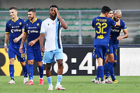 Sofyan Amrabat of Hellas Verona celebrates after scoring a goal during the Serie A football match between Hellas Verona and SS Lazio at stadio Marcantonio Bentegodi in Verona (Italy), July 26th, 2020. Play resumes behind closed doors following the outbreak of the coronavirus disease. <br /> Photo Daniele Buffa / Image Sport / Insidefoto