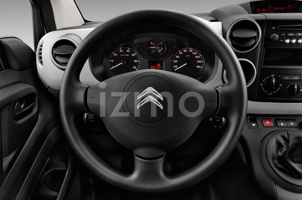 Car pictures of steering wheel view of a 2016 Citroen Berlingo-Furgon Club-M 4 Door Car Van Steering Wheel