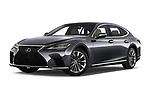 Stock pictures of low aggressive front three quarter view of 2021 Lexus LS 500 4 Door Sedan Low Aggressive