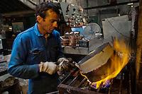Europe/France/Normandie/Basse-Normandie/50/Villedieu-les-Poêles: Atelier du Cuivre<br /> Àuto N°:  2012-437, Àuto N°:  2012-438, Àuto N°:  2012-439, Àuto N°:  2012-440, Àuto N°:  2012-441i //  France, Manche, Villedieu les Poeles, Copper workshop