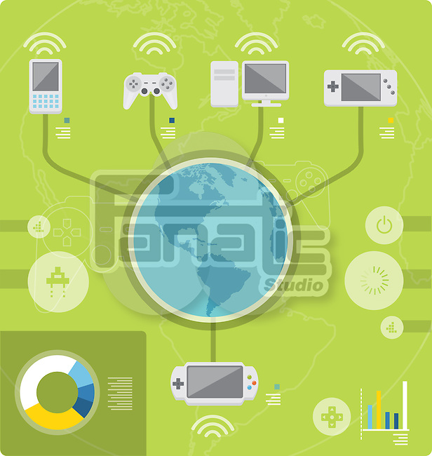 Illustrative image of online gaming