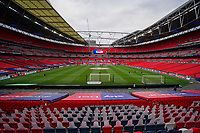 General view of Wembley Stadium with no spectators during the Sky Bet League 2 PLAY-OFF Final match between Exeter City and Northampton Town at Wembley Stadium, London, England on 29 June 2020. Photo by Andy Rowland.