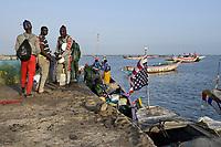 SENEGAL, Casamance, Ziguinchor, fishing port / Fischereihafen