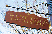 West India Goods Store in Salem, Massachusetts. This area is part of the Salem Maritime National Historic Site.