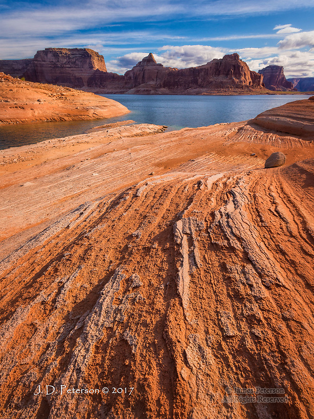 Dawn Light at Face Canyon, Lake Powell ©2017 James D Peterson.
