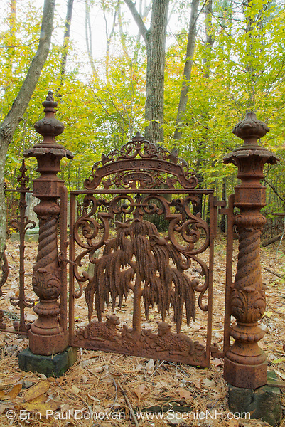 Chase Cemetery in Pawtuckaway State Park in Nottingham, New Hampshire USA . This cemetery dates back to the 19th century mountain settlement that was once in the area