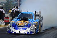 May 19, 2012; Topeka, KS, USA: NHRA funny car driver Jim Head during qualifying for the Summer Nationals at Heartland Park Topeka. Mandatory Credit: Mark J. Rebilas-
