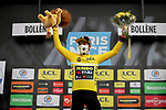 Race leader Primoz Roglic (SLO) Team Jumbo-Visma retains the Yellow Jersey at the end of Stage 5 of Paris-Nice 2021, running 200km from Vienne to Bollene, France. 11th March 2021.<br /> Picture: ASO/Fabien Boukla   Cyclefile<br /> <br /> All photos usage must carry mandatory copyright credit (© Cyclefile   ASO/Fabien Boukla)
