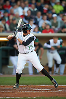 Dayton Dragons third baseman Gavin LaValley (29) at bat during a game against the Great Lakes Loons on May 21, 2015 at Fifth Third Field in Dayton, Ohio.  Great Lakes defeated Dayton 4-3.  (Mike Janes/Four Seam Images)