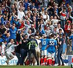 Joe Garner celebrates his winner for Rangers