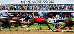 May 18, 2019 : War of Will #1, ridden by Tyler Gaffalione, wins the Preakness Stakes on Preakness Day at Pimlico Race Course in Baltimore, Maryland. Karina Serio/Eclipse Sportswire/CSM