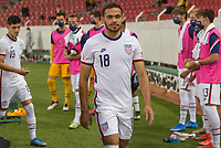 , MEXICO - : Hassani Dotson #18 of the U-23 USMNT walking out during a game between  and undefined at  on ,  in , Mexico.