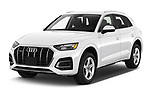 2021 Audi Q5 Premium 5 Door SUV Angular Front automotive stock photos of front three quarter view
