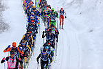 Coronavirus outbreak - 50th Marcialonga - Visma Ski Classic - A 70 km cross-country ski marathon with around 2000 skiers from Moena to Cavalese, Trentino, North Italy on 31st of January 2021. In action skiers