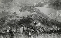Baranof-Castle Flying The American Flag For The First Time, Alaska, on October 18, 1867, Artist Unknown