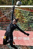 E. Aalst goalkeeper Silke Baccarne (1) pictured before a women soccer match between Standard Femina de Liege and Eendracht Aalst dames, Saturday 25 September 2021 in Liege, in the 1/16 th final of the Belgian Womens Cup 2021-2022. PHOTO BERNARD GILLET