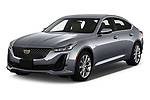 2020 Cadillac CT5 Premium-Luxury 4 Door Sedan Angular Front automotive stock photos of front three quarter view