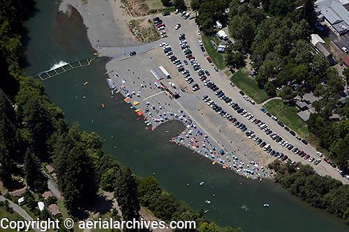 aerial photograph bathers Russian river, Sonoma County, California