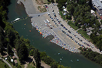 aerial photograph bathers Russian river, Sonoma County, California