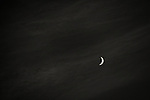 Crescent Moon in Black and White