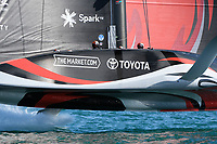 13th March 2021; Waitemata Harbour, Auckland, New Zealand;  Emirates Team New Zealand v Luna Rossa Prada Pirelli. Race 5, Day 3 of the America's Cup presented by Prada. Auckland, New Zealand, Saturday the 13th of March 2021.