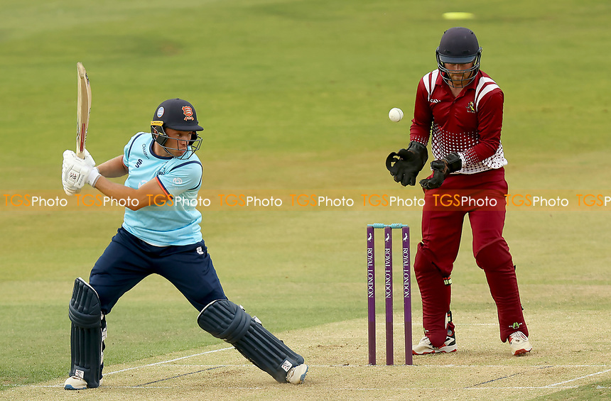 Aron Beard of Essex hits out during Essex Eagles vs Cambridgeshire CCC, Domestic One-Day Cricket Match at The Cloudfm County Ground on 20th July 2021