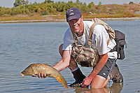 Tom Ziegler with a quality Carp, Out-of-Towner Flats, Somewhere on the Front Range, Colorado