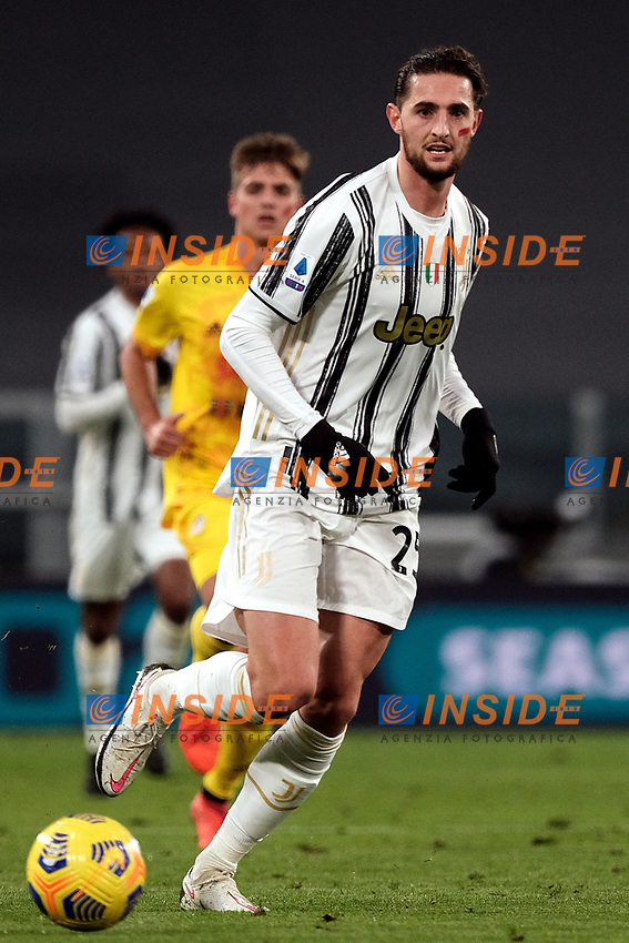 Adrien Rabiot of Juventus FC in action during the Serie A football match between Juventus FC and Cagliari Calcio at Allianz stadium in Torino (Italy), November21th, 2020. Photo Federico Tardito / Insidefoto