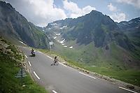 spanish champion Ion Izagirre (ESP/Movistar) coming down over the top of the Col du Tourmalet (HC/2115m/17.1km/7.3%)<br /> <br /> 2014 Tour de France<br /> stage 18: Pau - Hautacam (145km)