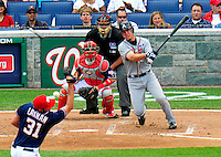 4 July 2009: Atlanta Braves' third baseman Chipper Jones in action against the Washington Nationals at Nationals Park in Washington, DC. The Nationals defeated the Braves 5-3 to take the second game of the 3-game weekend series. Mandatory Credit: Ed Wolfstein Photo