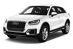 2017 Audi Q2 Sport 5 Door SUV angular front stock photos of front three quarter view