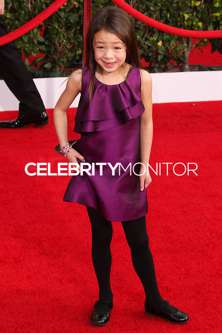 LOS ANGELES, CA - JANUARY 18: Aubrey Anderson-Emmons at the 20th Annual Screen Actors Guild Awards held at The Shrine Auditorium on January 18, 2014 in Los Angeles, California. (Photo by Xavier Collin/Celebrity Monitor)