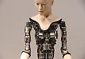 Humanoid robots on display at Miraikan