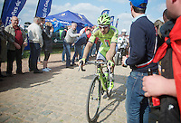 Peter Sagan (SVK/Cannondale) coming out of Carrefour de l'Arbre <br /> <br /> Paris-Roubaix 2014