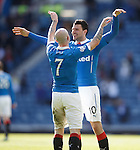 Nicky Law and Haris Vuckic after goal no 4