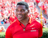 ATHENS, GA - SEPTEMBER 7: Herschel Walker before the game during a game between Murray State Racers and University of Georgia Bulldogs at Sanford Stadium on September 7, 2019 in Athens, Georgia.