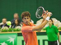 05-04-13, Tennis, Rumania, Brasov, Daviscup, Rumania-Netherlands, Robim Haase