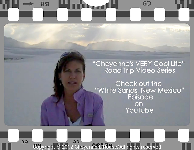 "VIDEO: When I am on the road sometimes I shoot video and have been doing that for the last few years - my videos have become a fun web series called, ""Cheyenne's VERY Cool Life"" and I have quite the following from my Facebook page - they even ask me when the next video is coming out! I love sharing the amazing sights I am so fortunate to see and photograph. Join me on the road! <br />