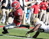 Athens, GA - November 26, 2016: The University of Georgia Bulldogs play the Georgia Tech Yellow Jackets at Sanford Stadium.  Final score Georgia Tech 28, Georgia 27.