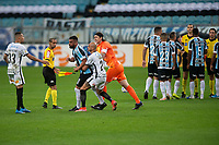 28th August 2021; Arena do Gremio, Porto Alegre, Brazil; Brazilian Serie A, Gremio versus Corinthians;  Fábio Santos and Cássio from Corinthians hold back Maicon of Grêmio after he received the red card in the 80th minute